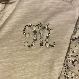 Miss Me long sleeve jewel embellished shirt